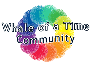 blue planet, whale of a time logo