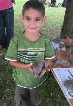 boy with his clay model